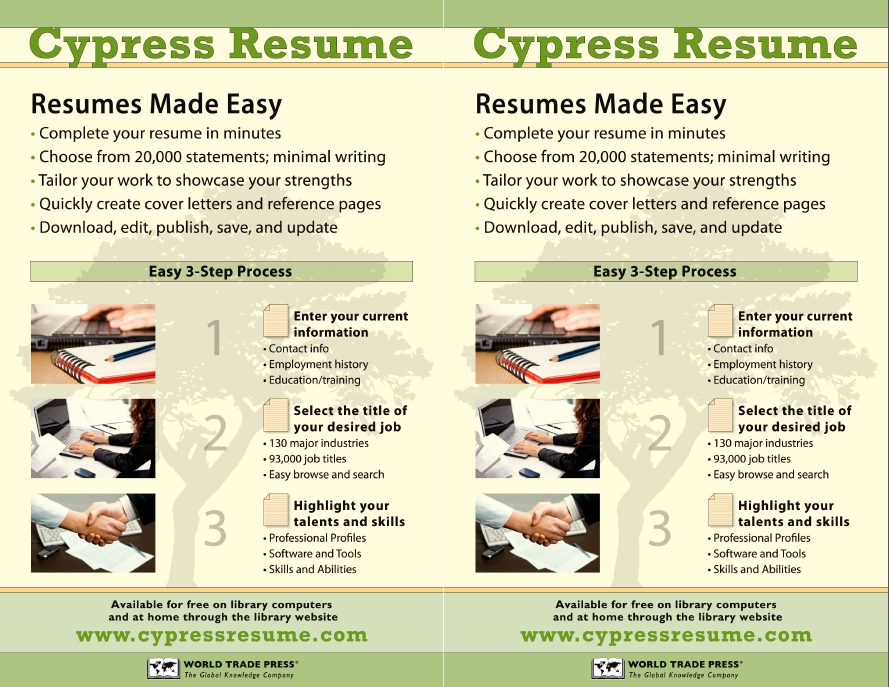 Copyright 2018 Cypress Information Services LLC | All Rights Reserved. Intended Cypress Resume